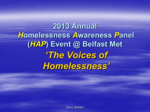 Presentation - council homeless ni
