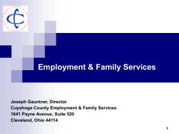 Employment & Family Services - Cuyahoga Job and Family Services
