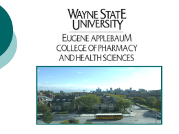 Eugene Applebaum College of Pharmacy and Health Sciences