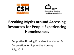 Myth - Supportive Housing Providers Association