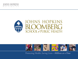 source - Johns Hopkins Bloomberg School of Public Health