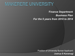 Business Plan - Makerere University