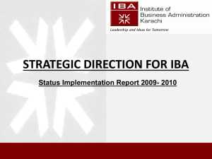 2nd Report - Institute of Business Administration
