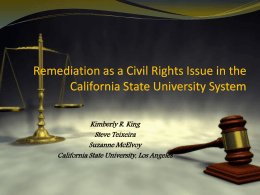 Remediation - The Civil Rights Project at UCLA