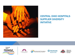 The presentation - Central Ohio Hospital Council
