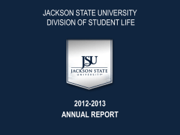 Division of Student Life - Jackson State University