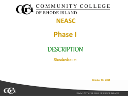 Description - Community College of Rhode Island