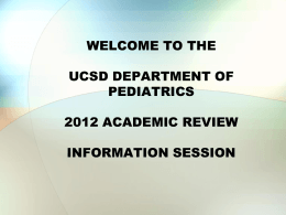 welcome to the department of medicine`s 2006 academic review