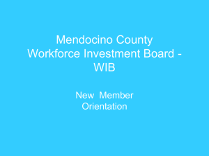 in PowerPoint format - Mendocino County Workforce Investment Board