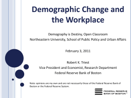 Demographic Change and the Workplace