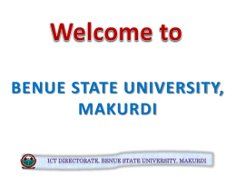 Guide on ICT & Portal Operations - Benue State University, Makurdi