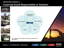 CSR Tamdown - Tamdown Group