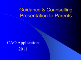 Career Guidance & Counselling - St. Brendan`s Community School