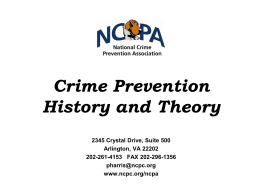 Introduction to Policing and Prevention
