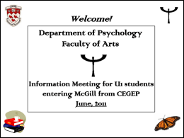 Orientation Slides for New ARTS Majors in