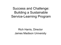 Success and Challenge in Building a Sustainable Service