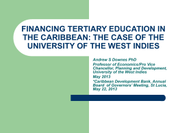 financing tertiary education in the caribbean