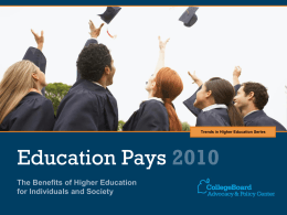 Education Pays 2010 - Trends in Higher Education
