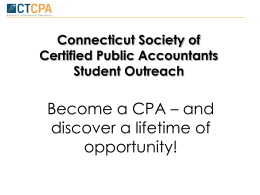HSPowerpoint11 - Connecticut Society of CPAs