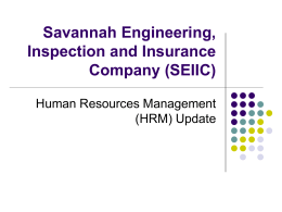 Savannah Engineering, Inspection and Insurance Company
