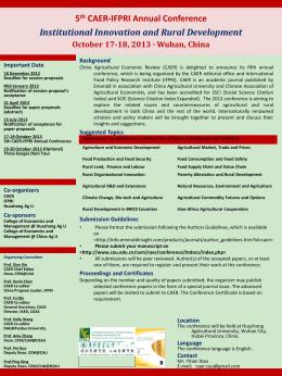 5th CAER-IFPRI Annual International Conference