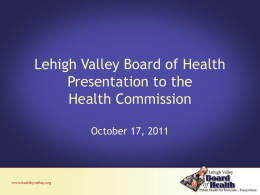 Lehigh Valley Health Department Services and Staffing