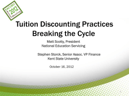 Tuition Discounting Practices Breaking the Cycle