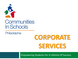 CorpServ - Communities in Schools of Philadelphia