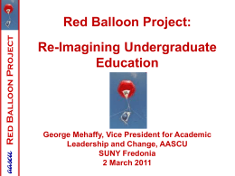 Red Balloon Project by George Mehaffy