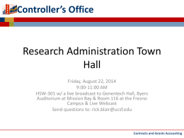 Research Administration Townhall Meeting