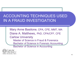 Forensic Accounting/Investigation Methodology - acfe