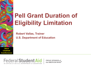 Pell Duration of Eligibility Limitation