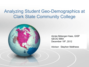 Analyzing Student Geo-Demographics at Clark State Community