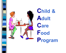 Afterschool Supper Training SDs - Food Research and Action Center