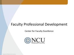 Faculty Development Courses