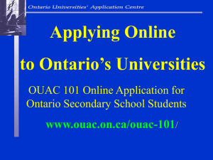 Before using the OUAC 101 application, you will need