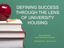 Defining Success Through The Lens of University