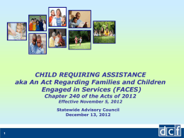DCF Presentation on FACES bill_SWAC