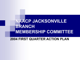 Membership Committee Action Plan