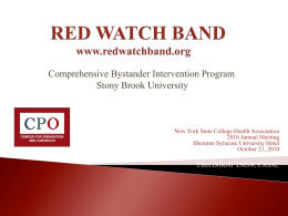 TH-6.05 Red Watch Band - Bystander Intervention