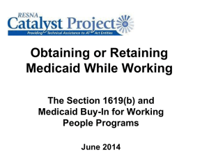 medicaid06252014 - RESNA Catalyst Project