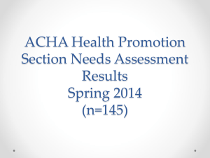 ppt - American College Health Association
