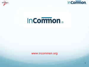 InCommon Overview