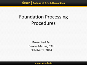 Foundation Information Session - College of Arts and Humanities