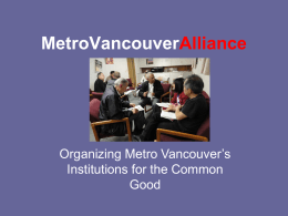 Metro Vancouver Alliance - Archdiocese of Vancouver
