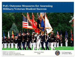 Outcome Measures for Assessing Military/Veteran Student