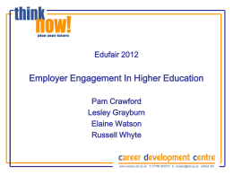 Employer Engagement in Higher Education