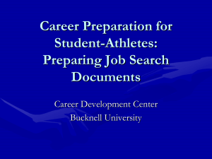 Career Preparation for Student-Athletes