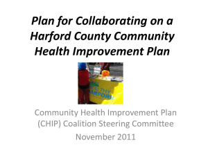 Materials Presented - Harford County Health