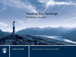 Funding Your Exchang..